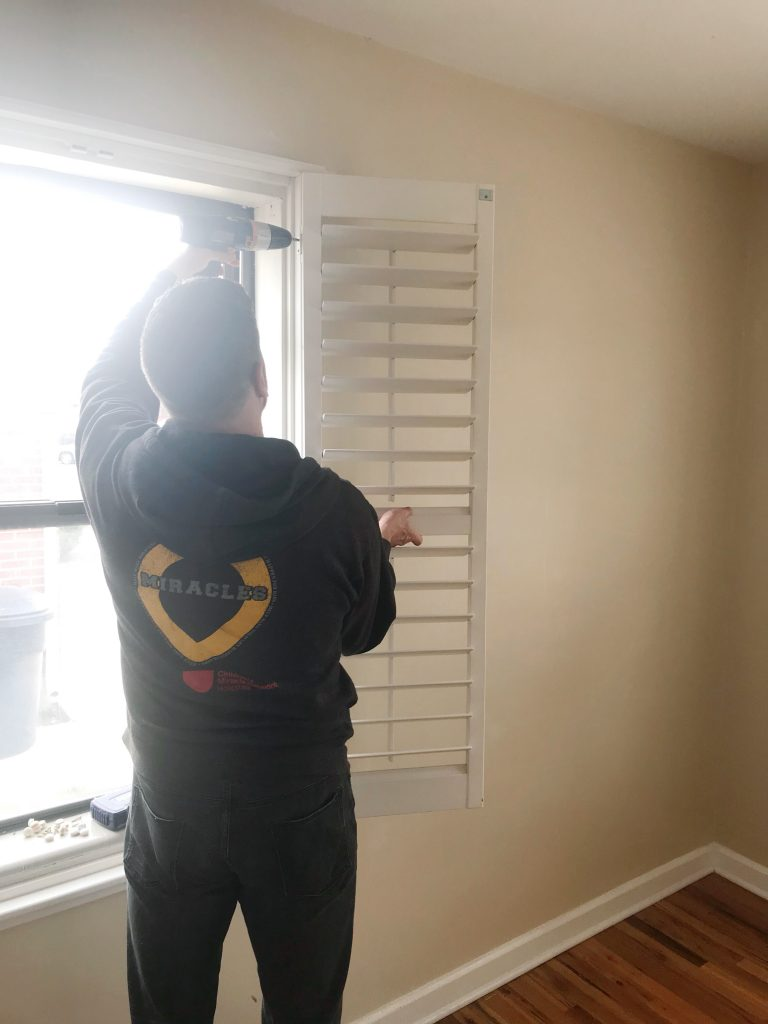 Brian Removing Shutters