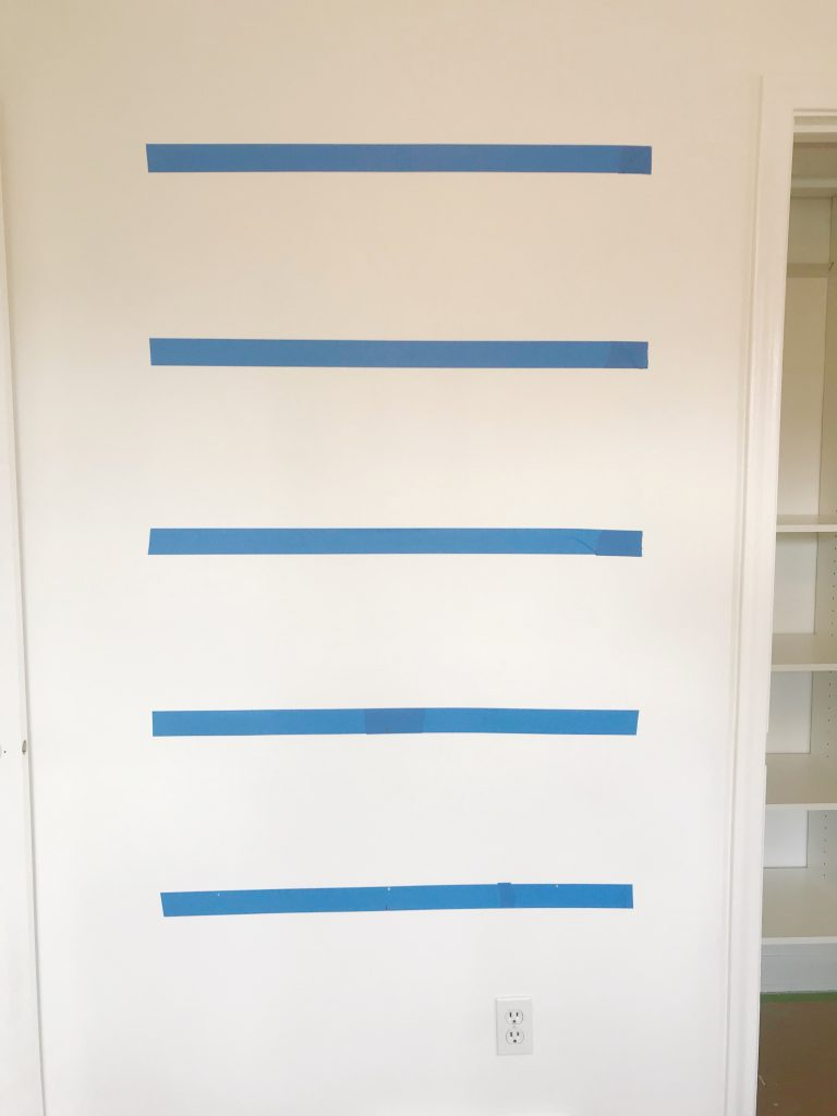 Painters Tape on Wall