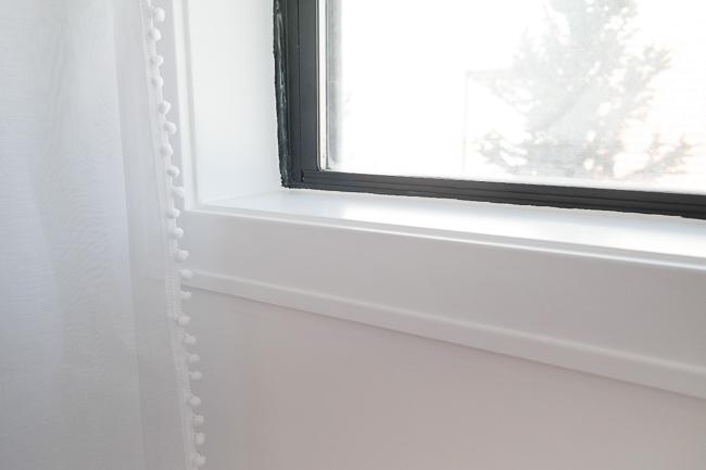 Painted Black Window Detail