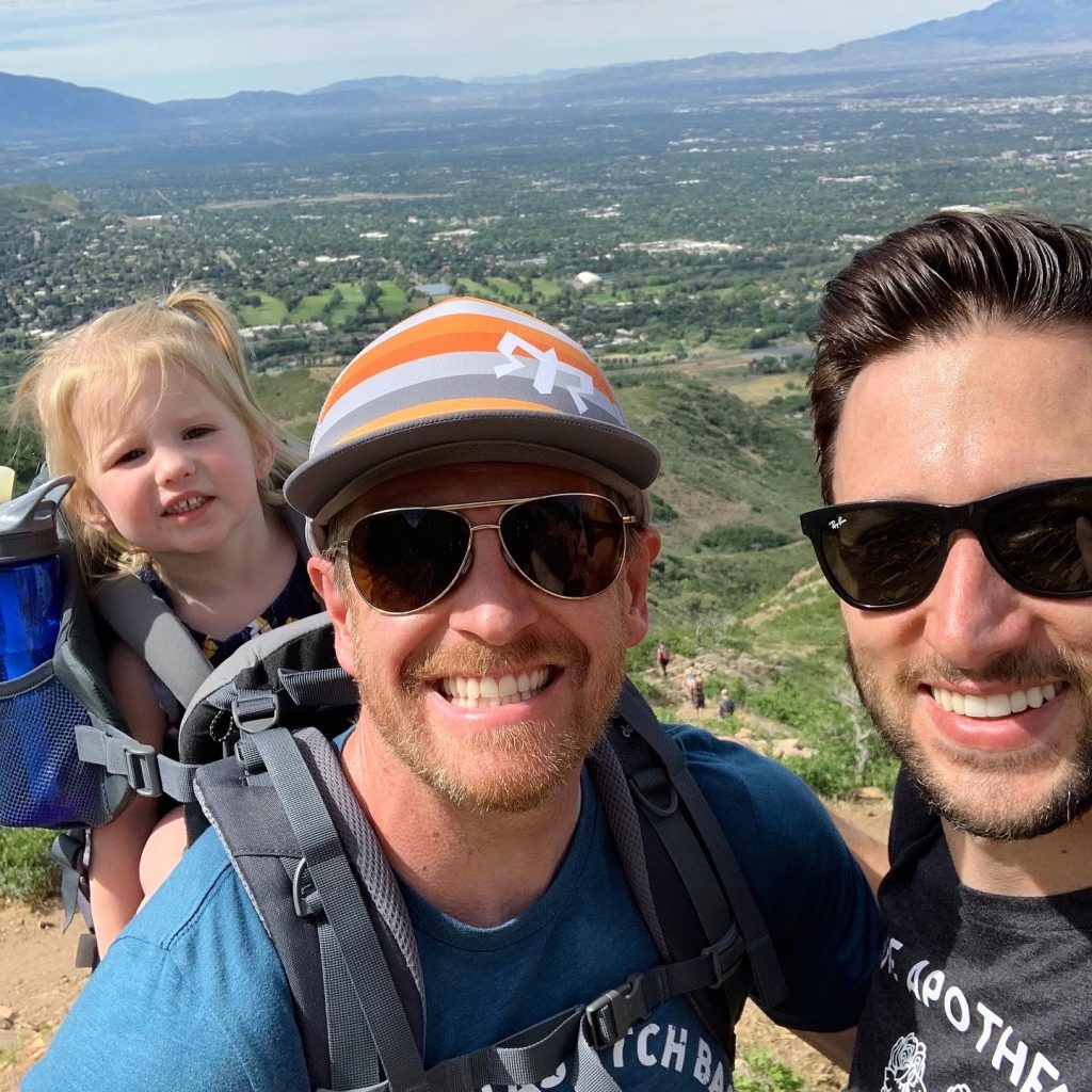 At the top of Living Room Trail in Salt Lake City